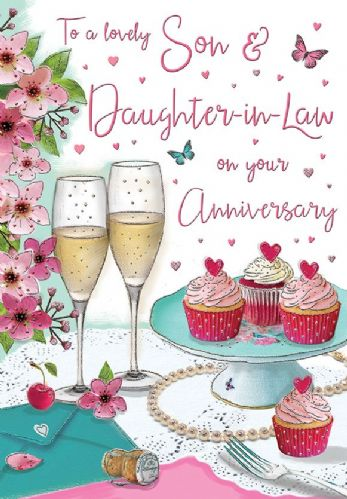 To A Lovely Son & Daughter-In-Law On Your Anniversary
